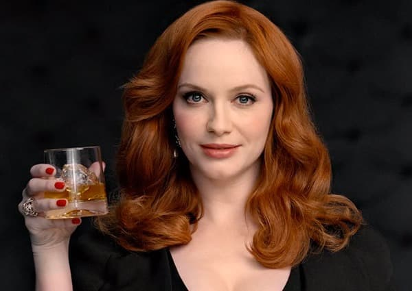 Christina Hendricks Drinks Whiskey Photo